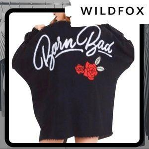 🆕⭐️ NWT WILDFOX Born Bad Cardigan Sweater
